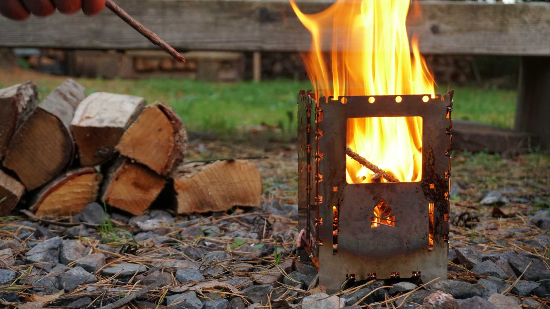 Bushbox brennt