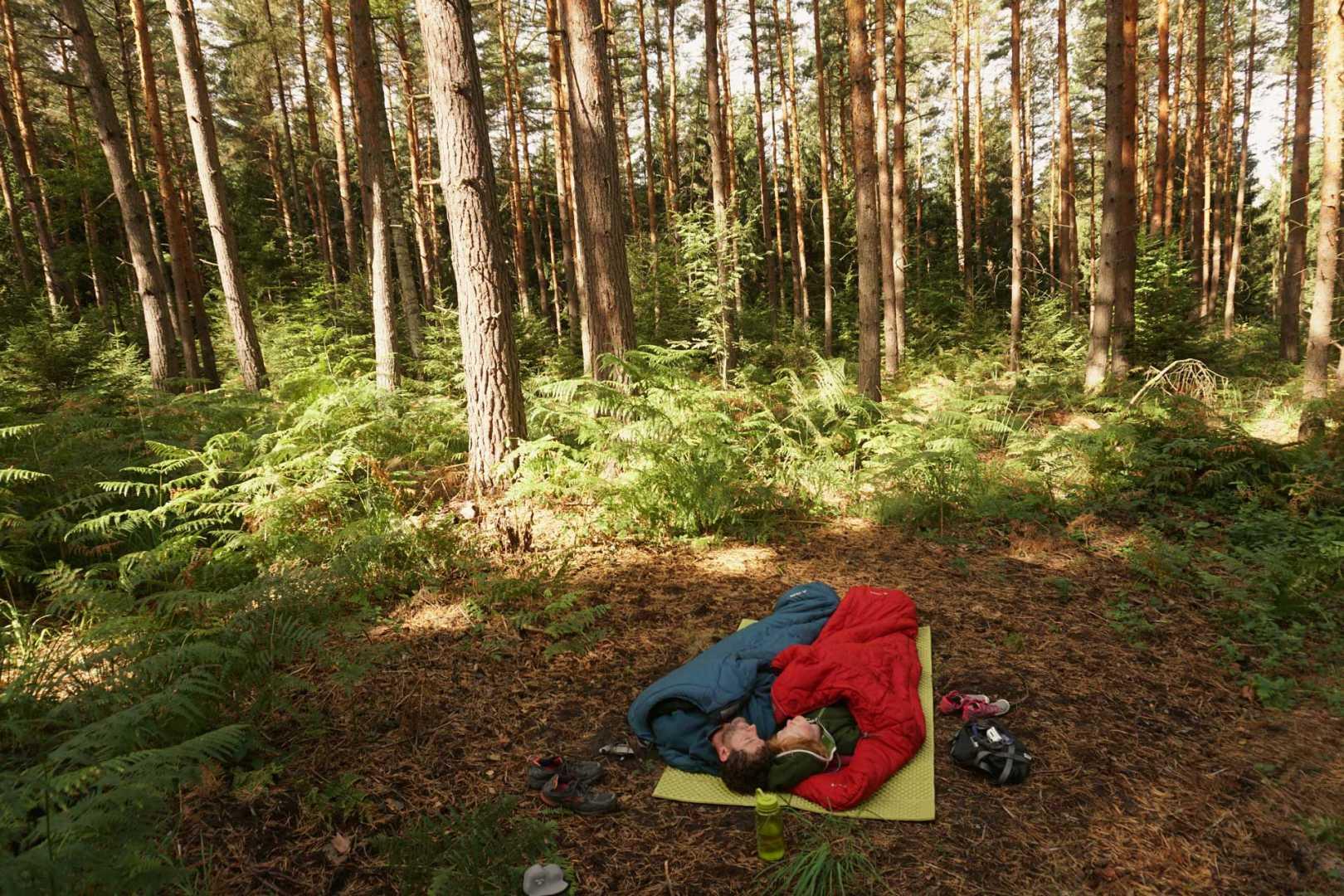 Jana und Paddy beim Wildcampen in Deutschland - Spitzstein Biwak