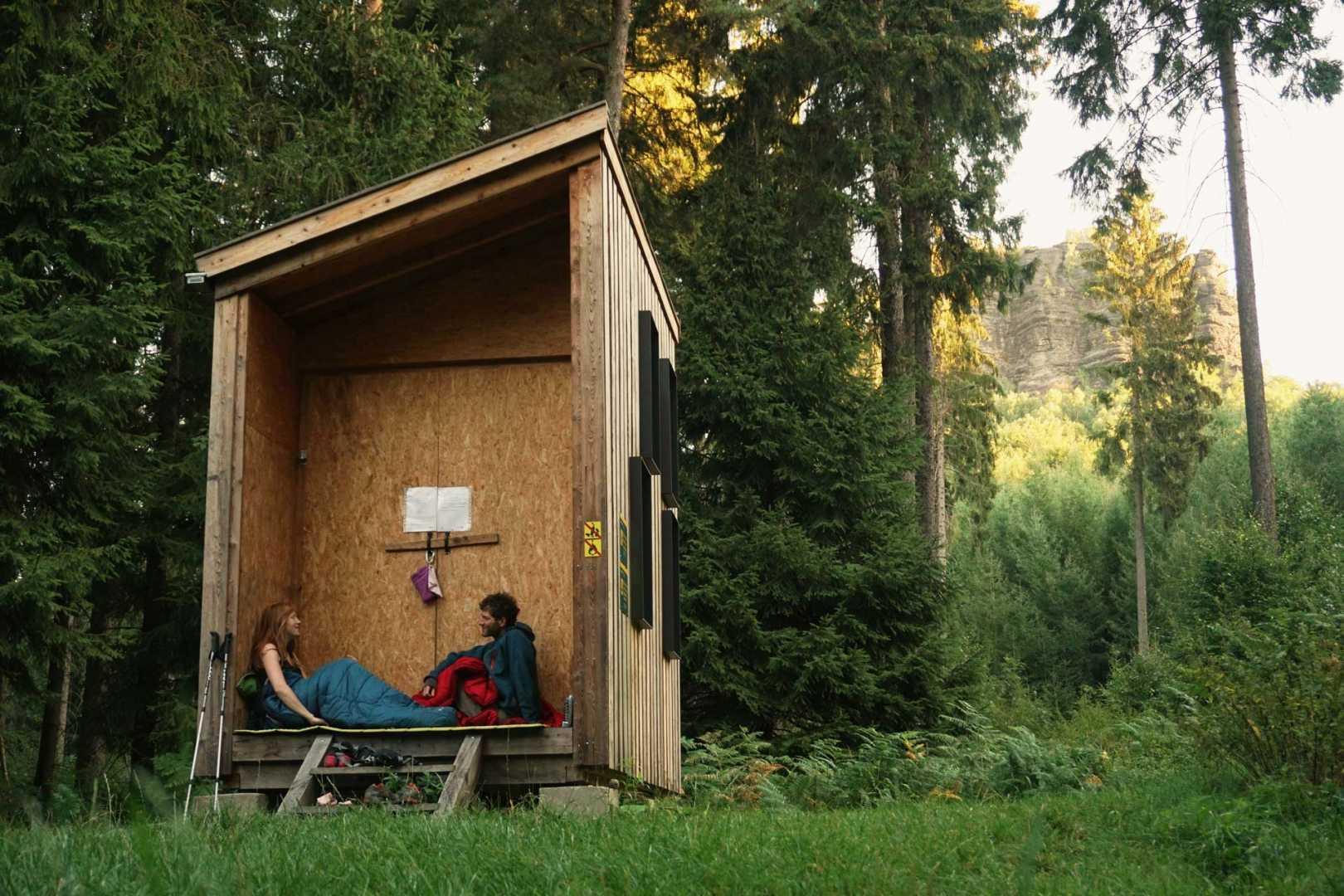 Legales Wildcampen in Deutschland mit Zelt - Biwakplatz Sächsische Schweiz