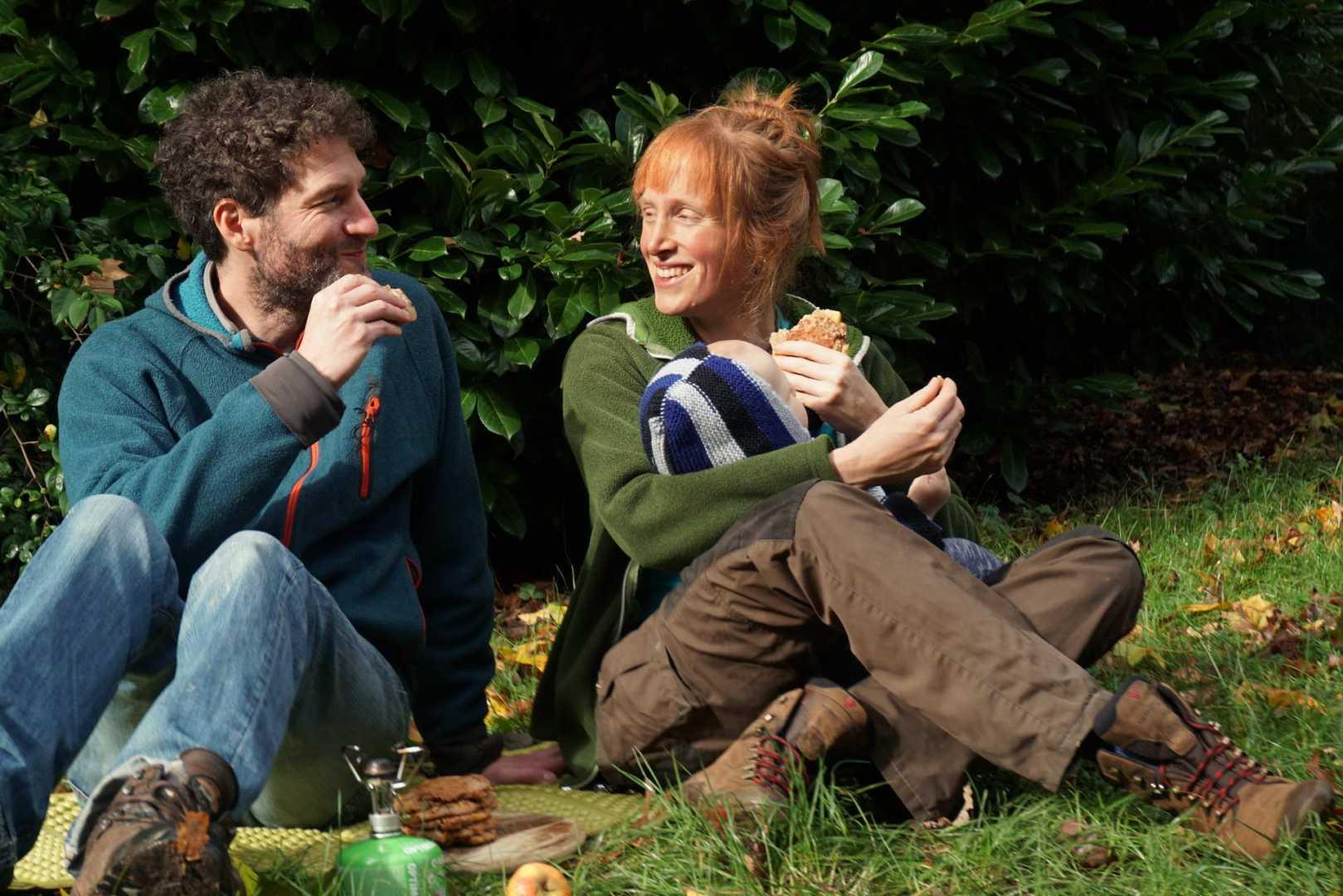 Jana und Paddy beim Essen