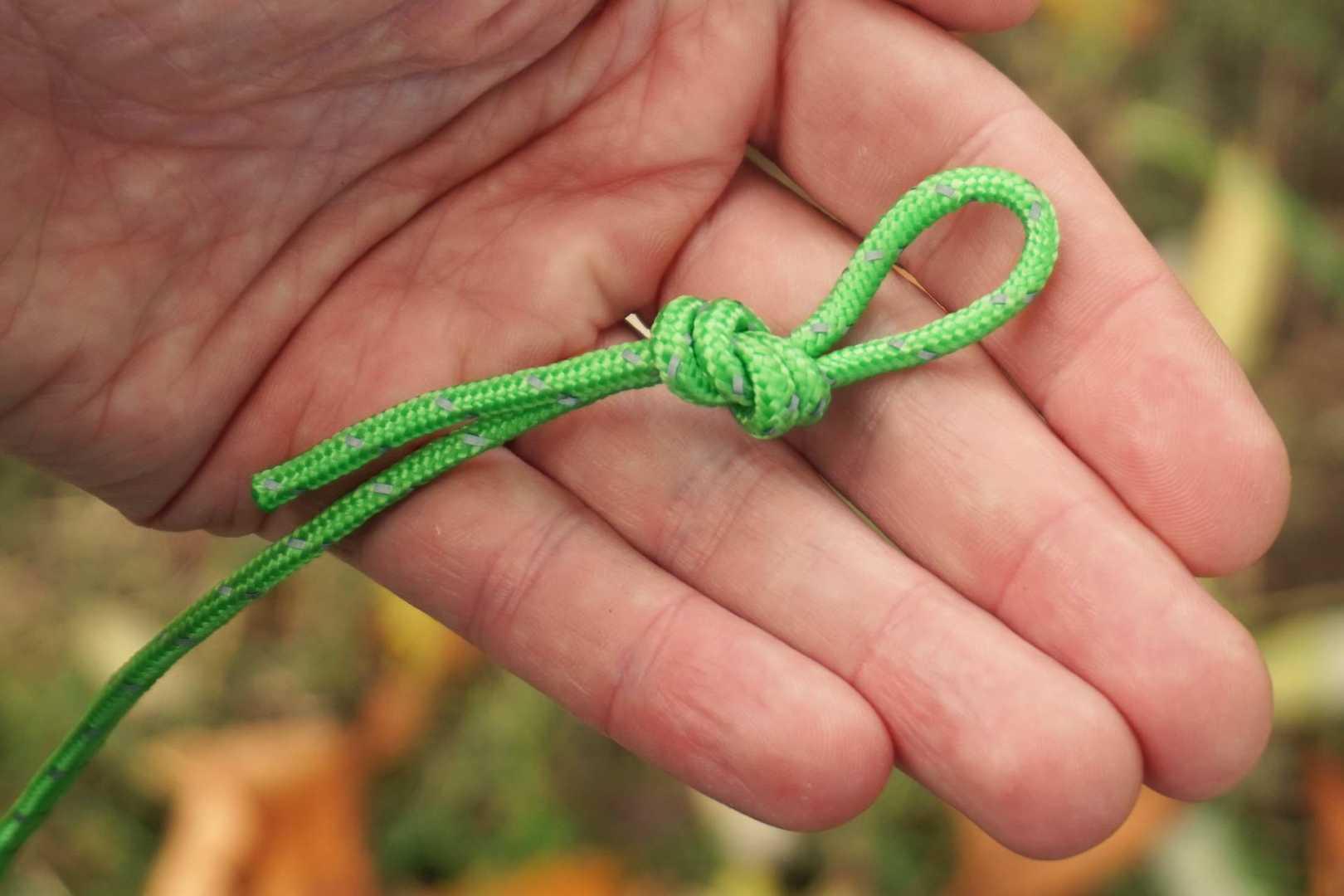 Seil mit Sackstich Schlinge