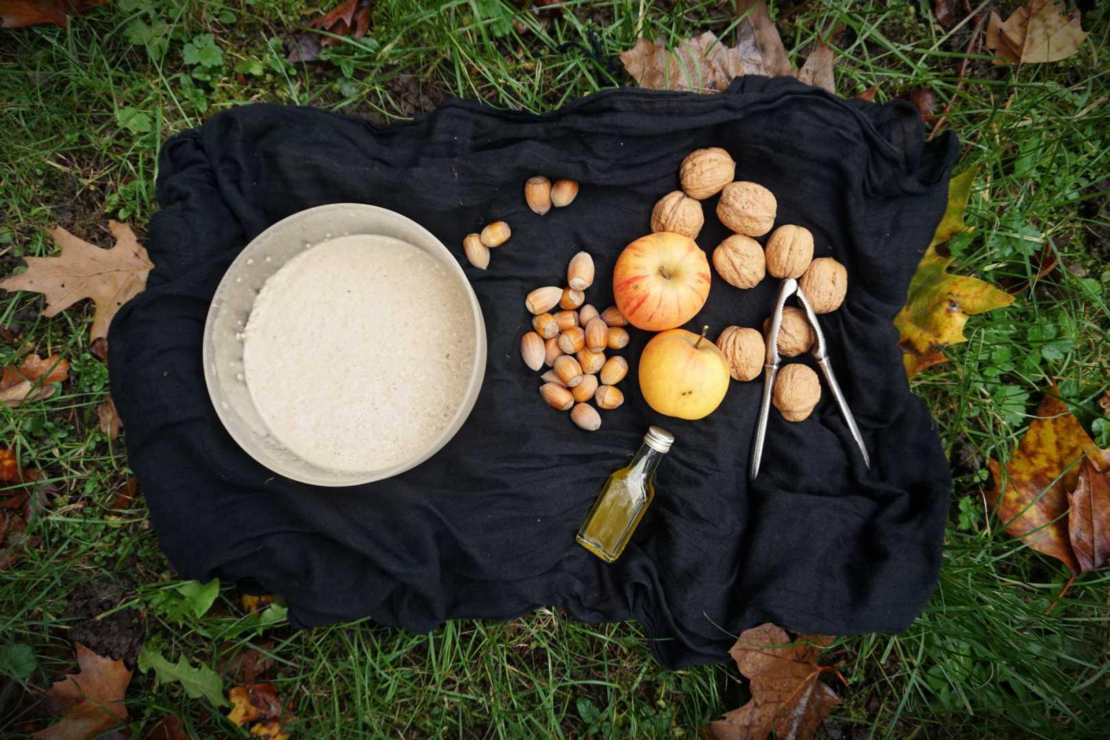 Zutaten Apfel-Nuss-Pfannkuchen